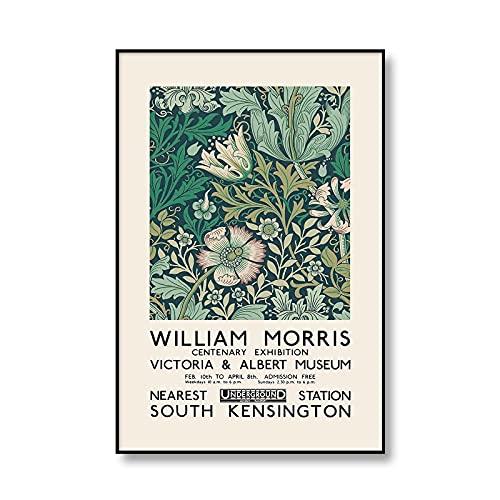 Impresión floral única de William Morris, exposición de imágenes de arte de pared floral, carteles e impresiones, pinturas de lienzo sin marco familiares A5 70x100cm