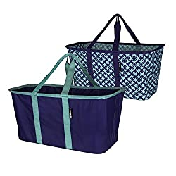 powerful CleverMade Folding Fabric Basket – Folding Organizer for Pull-out Containers –…