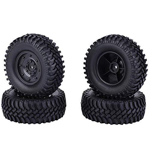 Dilwe RC Autoreifen, 100mm Durchmesser Reifen Zubehör für 1/10 Ferngesteuertes Auto(Schwarz)