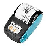 Eboxer Imprimante Thermique Bluetooth Imprimante à reçu/Ticket de Caisse sans Fil Portable 58mm Impression POS/ESC pour iOS/Android/Windows (Bleu)