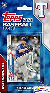 Texas Rangers 2020 Topps Baseball EXCLUSIVE Special Limited Edition 17 Card Complete Factory Sealed Team Set with Elvis An...