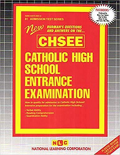 Catholic High School Entrance Examination (CHSEE)