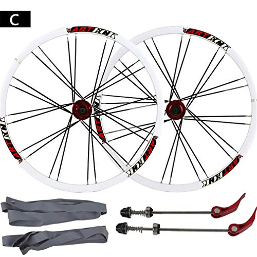 HJJGRASS Mountainbike-Felgen 26 Zoll Fahrrad-Scheibenbremse Wheel Set, Mountainbike-Kugel-Flachspeichen-Rad Set Messer Ring Hub,C