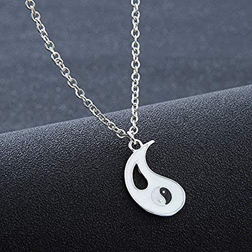 BACKZY MXJP Collar 2 Unids/Set Fantásticos Mejores Amigos Ying Yang Collares Taiji Bagua Colgante De Joyería para Amantes Regalos