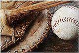 Bernice Winifred Vieille Photographie de Baseball, Gant de Baseball et Batte de Baseball d'occasion Une Carte du Monde 8 Puzzle adulte-500 Piece 15In X 20.5In