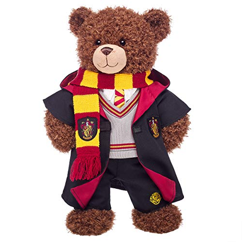 Build A Bear Workshop Harry Potter Bear with Gryffindor House Robe, Scarf & Hogwarts Pants, 16 Inches