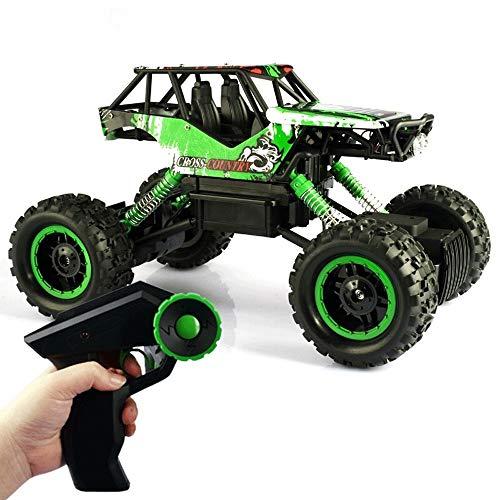 Kikioo 2.4Ghz ricaricabile Hobby Auto 4WD velocità veloce Racing Cars Roccia Crawlers Dune Buggy Telecomando Monster Truck giocattolo for il ragazzo regalo RC auto, 1/12 gigante metallo Shell doppi mo