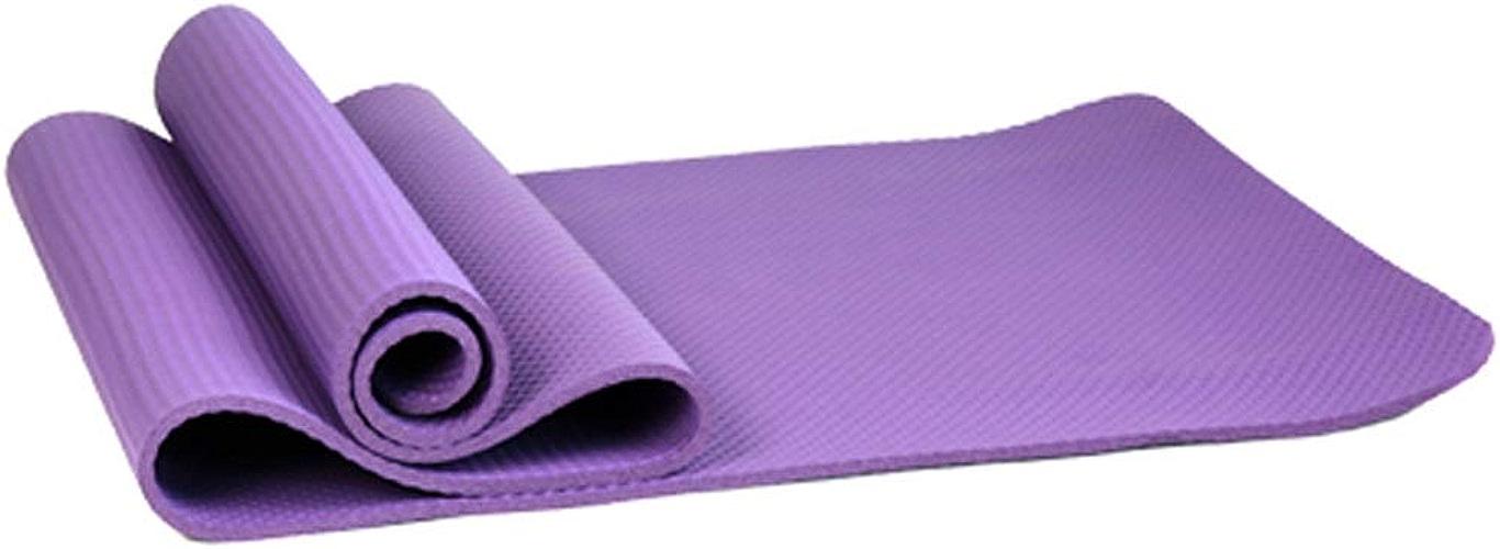 IUYWL Tapis de Yoga Rouge Anti-dérapant Femelle débutant male épaississement élargi Longue Fitness Tapis de Yoga Danse 3 Couleurs en Option Tapis de Yoga (Couleur   C)