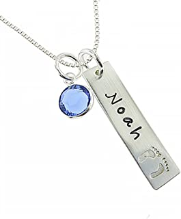 Footprint Necklace Personalized