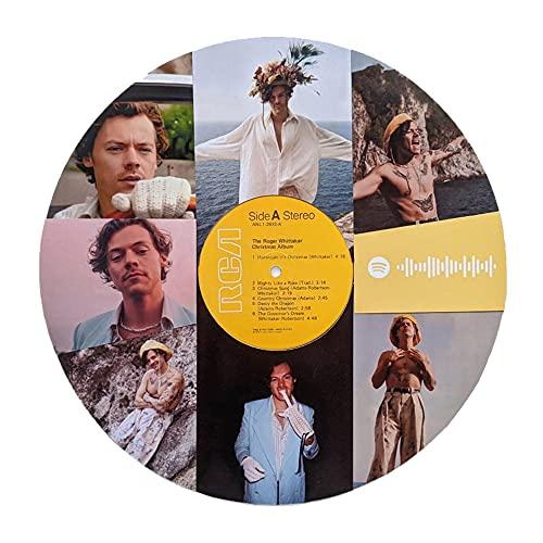 Disco in vinile personalizzato con 8 foto, codice Spotify personalizzato Disco in vinile Collage Retro Wall Art Display regalo per mamma amante dell amico