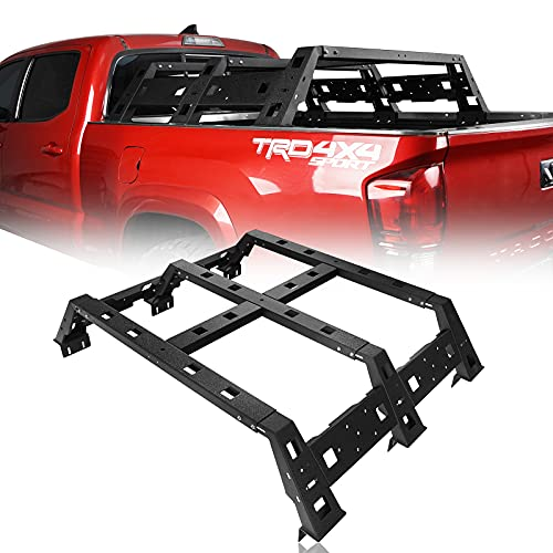 Hooke Road Tacoma Overland 11.5' Bed Rack Truck Cargo Carrier Compatible with Toyota Tacoma...