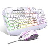 havit Tastiera e Mouse da Gioco Filo Gaming Tastiera e Mouse Impostati con Luce LED, 4 Livelli DPI,...