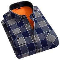 [ディーハウ]長袖 秋冬 防寒 シャツ メンズ ネルシャツ チェックシャツ おしゃれ シンプル 厚手 あったか 裏ボア ビジネス ワイシャツ 大きいサイズ カジュアル 裹起毛 暖かい 無地 細身M3XL