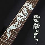 Guitar Fretboard Stickers Markers Inlay Sticker Decals for Guitar& Bass-Chinese Dragon