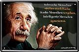 """Blechschilder Albert Einstein Zitat Spruch """"Schwache"""