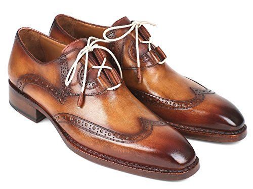 Paul Parkman Goodyear Welted Ghillie Lacing Wingtip Brogues Shoes (ID#2955-CML) Size 12-12.5 D(M) US Brown