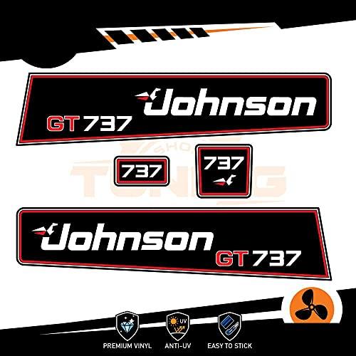 Generico Johnson - Kit de adhesivos para motor marino fueraborda 40 CV GT 737 – Versión B