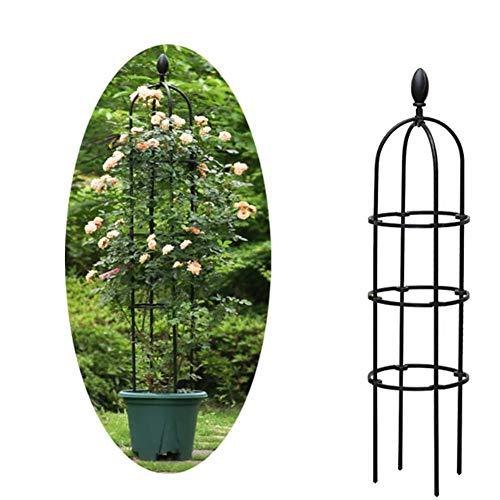 Dongbin Garten Obelisk Blume Unterstützung, Pflanzenstützen für Topfpflanzen, Garten Rahmen für Kletterpflanzen und Pflanzen,Blumenständer im FreienSchwarze Trompete