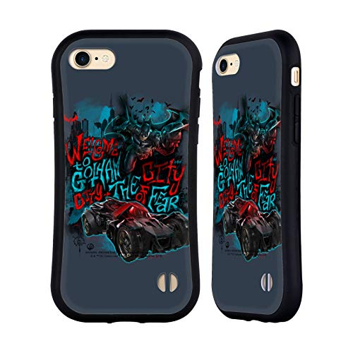 Official Batman: Arkham Knight Welcome To Gotham Graphics Hybrid Case Compatible for Apple iPhone 7 / iPhone 8 / iPhone SE 2020