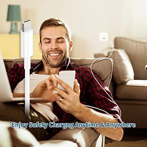 GEJIN Phone Ladekabel MFi Zertifiziert Phone Schnellladekabel WUYA Lightning Kabel [4Stück 1/2/2/3m] USB Ladekabel Langes Phone Kabel für Phone 11 Pro Max XR XS X 10 8 7 6 6S Plus 5 SE, iPad Air