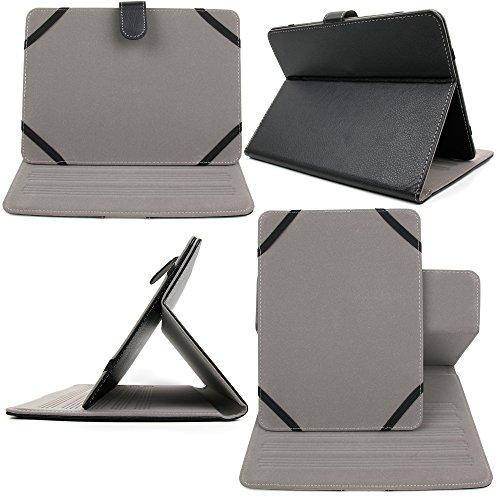 DURAGADGET Cómoda Funda/Atril para La Tablet Lenovo Yoga 2 (8') / Yoga 2 con Windows Negra - con Interior Aterciopelado