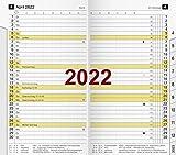 rido/idé 7046820002 Taschenkalender/Plankalender M-Planer Ersatzkalendarium, 2 Seiten = 1 Monat, 87 x 153 mm, Karton-Umschlag, Kalendarium 2022, mit Monatsregisterschnitt