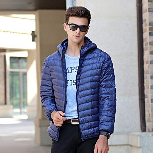 Hommes Doudoune Hiver Lumière Doudoune Mode Hommes Doudoune Doudoune Léger Extérieure Décontractée Chaud Doudoune Manteau XL bleu marine