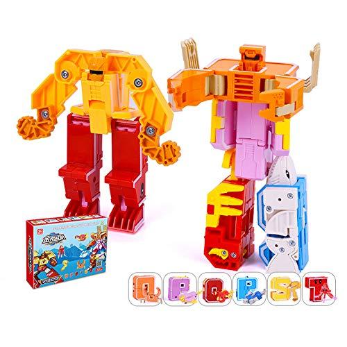 MeterMall King Kong équipe anglais alphabet déformation dinosaure éducation précoce jouet cadeau 4#