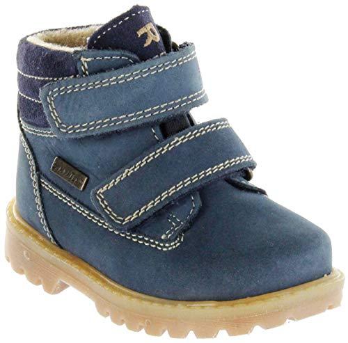 Richter Kinder Lauflerner-Stiefel Sympatex blau Nubukleder Jungen Schuhe 1232-441-7201 Atlantic Pragon, Farbe:blau, Größe:25 EU