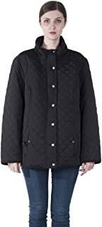 Women Plus Size Winter Warm Parka Leightweight Quilted...