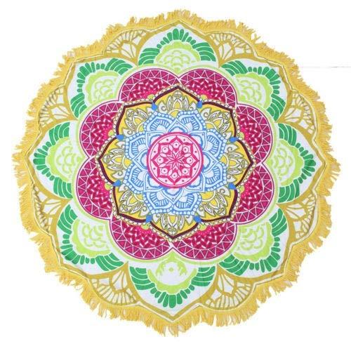 1 x Mandala Tapestry strandhanddoek Sunblock ronde bikini deken lotus bohemian yogamat campingmatras