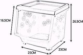 MU Panier de Stockage Multicouche empilable en Plastique en Bois Solide de ménage de boîte de Rangement de ménage/Cuisine ...