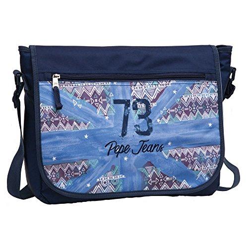 Pepe Jeans 73 Carterón Portaordenador, Color Azul, 11.78 litros