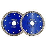 SHDIATOOL Disco Tronzador de Diamante 2 Piezas 125mm con X Malla Turbo...