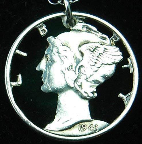 Silver Mercury Liberty Head Dime Cut Coin Necklace
