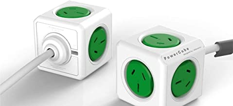 Allocacoc ALLOCACOC POWERCUBE Extended Boston Green-5 Outlets- 3.0m Cable, 5304GN/AUEXPC