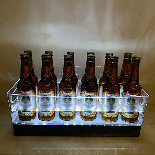 Glühenden Led EIS Eimer,Große Kapazität Bier Weinkübel Getränke Eiskühler Wasserdicht Kunststoff Eiskübel Für Partei Startseite Bar Ktv Pub B 12 Flaschen
