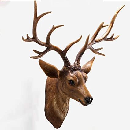 Hertenkop Retro Stijl Herten Hoofd Muur Opknoping Creatieve Woonkamer Hars Herten Hoofd Achtergrond Wanddecoratie Kleur Bruin Maat 73 27 70 Cm Color Brown Size 73 27 70cm Amazon Nl
