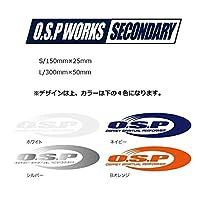 オーエスピー OSPワークスステッカーL シルバー