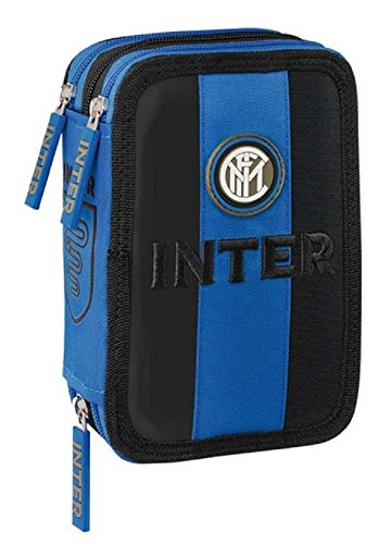 Franco Cosimo Panini 56175 - Astuccio Corredo 3 Zip Inter FC - Licenza Ufficiale