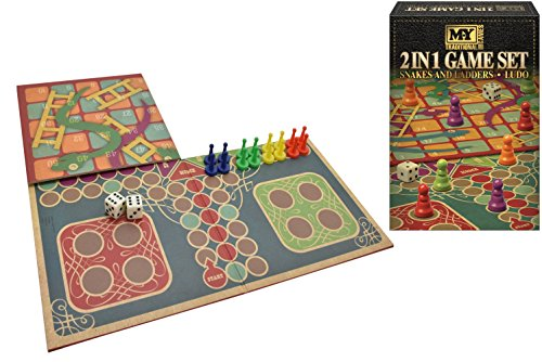 Guilty Gadgets 2in1 Ludo and Snakes and Ladders Luxury fun strategy Family board game