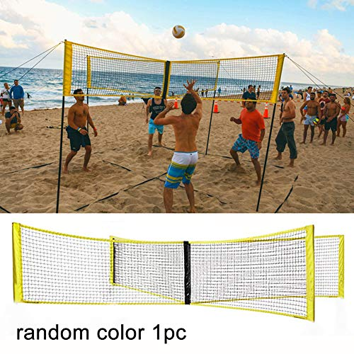 Gcroet 4-Sided Volleyball Net Set Outdoor Backyard Volleyball Net Outdoor Volleyball Net System Portable Beach Volleyball Net Random Color
