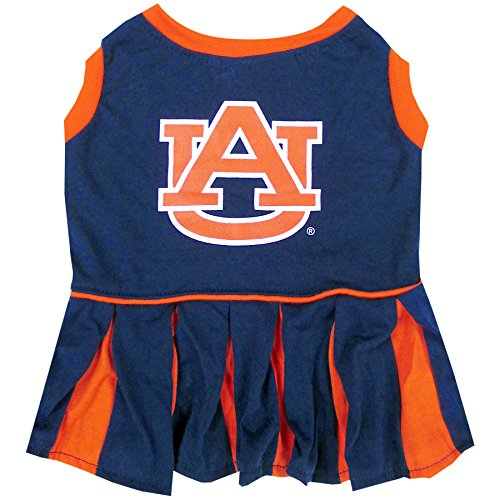 Pets First NCAA Auburn Tigers Dog Cheerleader Outfit, X-Small