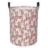 Meiya-Design Bichon Florals - Cesto de almacenamiento redondo plegable, diseño de flores de perro Bichon Frise