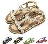 Camfosy Sandalias de Mujer de Fondo Plano Sandalias Flip-Flop Palabra t Los Zapatos de Arena de T Elegante La Corteza por la Noche Piscina de Playa Verde Rojo Blanco