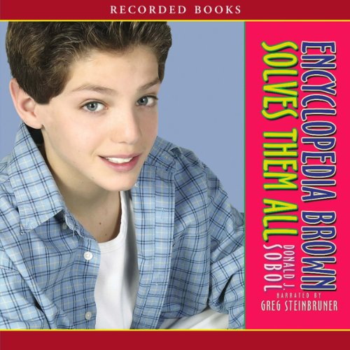 Encyclopedia Brown Solves Them All audiobook cover art