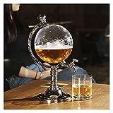 Vino Decanter Globe With Tap, 3.5L Transparent Whiskey Cerveza Decantador, Dispensador de vinos de licor antiguo for...