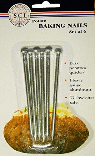 Aluminum Baked Potato Nails Baking Cooking Spud Nail Set of 6 - Tools & Gadgets by Kitchen Tools