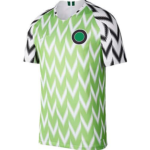 Erwachsene Fußball T-Shirts Nigeria Football Hemd Trikot, 2018 Russland Soccer Startseite Jersey, Mens Kurzarm Sport Jerseys Sweatshirt L