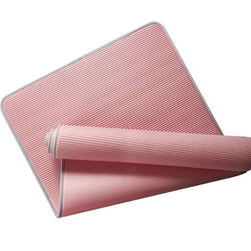 Exercisemat - Esterilla de yoga con bordes de 185 cm, antideslizante, para yoga, pilates, baile, gimnasio, hogar, fitness, principiantes